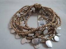 Lucky Brand gold & silver tone multi layered magnet bracelet, NWT