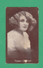 R.  &  J.  HILL  LTD. - RARE ACTRESS CHOCOLATE CARD  -  TOMMY  C??NEY  - 1917