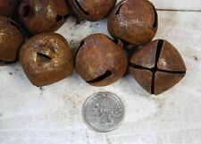 12 Primitive Rusty Tin Jingle BELLS - 30mm ......1-1/4""