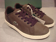 LACOSTE YOUTH RENARD CIK SPJ DARK BROWN SIZE 3 SHOES ABOUT 9 INCHES - BRAND NEW
