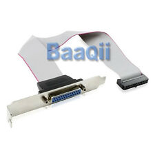 LPT1 Parallel Port Printer I/O Adapter DB25 to IDC 26Pin Header Slot Plate  TW