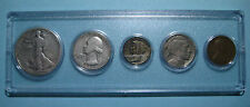 1937 US Coin Year Set 5 Coins 90% Silver
