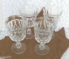 Set of 4 Vintage Noritake Clear PERSPECTIVE Water Goblets Stemware Glasses