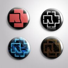 4 Lot RAMMSTEIN German  - Pinbacks Badge Button 25mm 1''