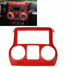New Red Car Interior ABS Centre Console Trim Cover For Jeep Wrangler JK 11-2016