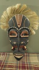 Vintage Antique Kulango Tribal Mask Ivory Coast Original African Hand Carved