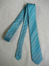 NEW SQUAD OF IRELAND BOYS TIE MOD CASUAL VINTAGE 1980'S TURQUOISE BLUE AGE 4-10