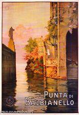 Punta di Balbianello Italy Vintage Art Travel Advertisement Poster Picture Print