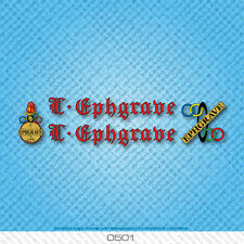 Ephgrave Bicycle Decals - Transfers - Stickers - Red & Black Text - Set 0501