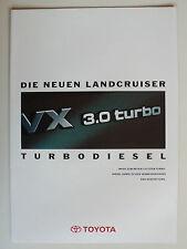 Prospekt Toyota Land Cruiser 4x4/Special/HT VX 3.0 Turbodiesel, ca1993, 4 Seiten