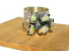 92.5 Sterling Silver Natural Ethiopian Welo Opal Rough Ring 3-5 M.M. :-7 US8.5