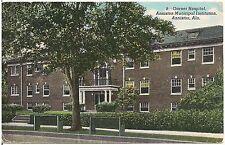 Garner Hospital, Anniston Municipal Institution in Anniston AL Postcard 1945
