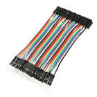 40pcs 10cm Dupont Male to Female Jumper Wire Ribbon Cable Pi Pic Breadboard Hot