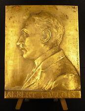 """Médaille plaque profil d""""Albert Gallois sc M Thomas-Gallois c 1900 medal"""