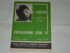 """SPARTITO MUSICALE DEL 196-LEDA MARKY""""L'ADDIO""""-""""SVEGLIARMI CON TE"""""""