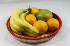 Gorgeous Hand-Woven Natural Raffia Fruit Vegetable Bowl Tray Basket FREE POSTAGE