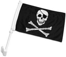 """12x18 Wholesale lot 12 JR Pirate Eye Patch Double Sided Car Vehicle 12""""x18"""" Flag"""