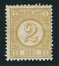 Netherlands Scott #36 – 2c Olive Yellow Numeral – MH