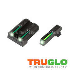 TRUGLO TG131GT1 TFO TRITIUM FIBER OPTIC NIGHT SIGHTS GLOCK 17 19 22 23 24 26 27