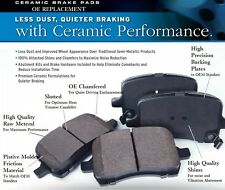 Ultra Premium Ceramic Brake Pads Front + Rear (FITS:CADILLAC SRX 2010 - 2014)