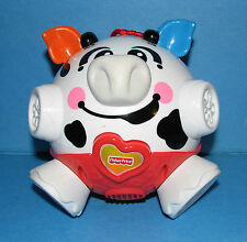 FISHER PRICE BOUNCE BUMBLE AND GIGGLE COW TOY BALL, VIBRATES & MUSICAL