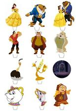 12 BEAUTY & THE BEAST **FAB** EDIBLE CUPCAKE/FAIRY CAKE TOPPERS **STAND UPS**