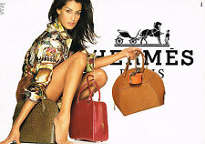 PUBLICITE ADVERTISING 104  1993  HERMES  collection chemisier maroquinerie ( 2 p