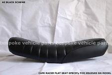 Suzuki GN 125 250 gn brat seat flat Seat w/ grips  Cafe Racer Retro Aftermarket