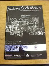 26/12/2000 Fulham v Watford  (the item is in good/very good condition with no ap