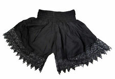 Stretchy/Elasticated Ladies shorts fits UK size 8,10,12,14 lace tassels summer