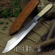 "NEW! 13"" Indian Pathfinder Carbon Steel, Real Bone Handle Bowie Knife w/ Sheath"