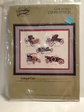 Something Special Candamar Designs Antique Ford Cars Counted Cross Stitch Kit