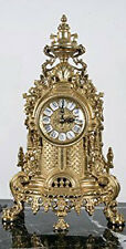 Solid Brass Baroque Mantel Clock Made in Italy!