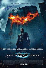 BATMAN The Dark Knight SIGNED AUTOGRAPH MOVIE POSTER A2 594x420mm 4 cast signed