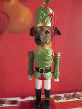 GREYHOUND ~ BRINDLE ~   SOLDIER DOG ORNAMENT  #94