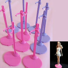 UK Plastic OH Pink Hangers Stand for Barbie Doll Dress Clothes Accessories