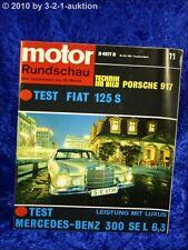 Motor Rundschau 11/69 Mercedes 300  SEL 6,3 Porsche 917