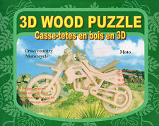 Unopened 3D CROSS COUNTRY MOTORCYCLE Wood Puzzle Kit