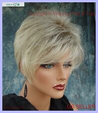 Sythetic Short Hair Wig for Women  COLOR PALE CEDAR ROOTED BLOND CUTE STYLE 347