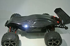 TRAXXAS 1/16 E-REVO CONCEPT BUGGY CARBON FIBER BODY  REAR SPOILER. LED LIGHT