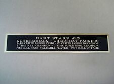 Bart Starr Packers Nameplate for a Football Jersey Display Case 1.25 X 6