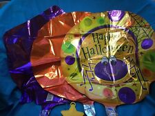 Set Of Three Mylar Halloween Balloons With Ribbon And Weight  Boo  Bouquet