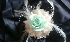 PROM WEDDING WRIST CORSAGE MINT GREEN IVORY or white **ALL COLOURS****