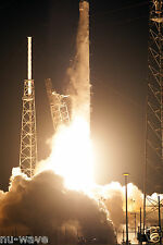 8x12 NASA Photo SpaceX Dragon Rockets to Space Station on the Falcon 9 Rocket