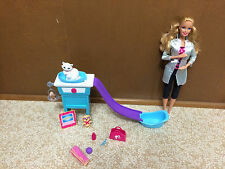 Barbie I Can Be Pet Vet Cat Kitty Care Doctor Doll Playset With Sound