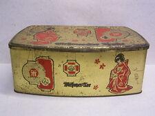 MEßMER TEE TRUHE: BLECHDOSE: JAPANISCHES MOTIV: MESSMER-TEE: 1950/60er JAHRE