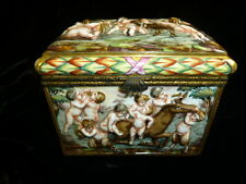 19th century Capo-di Monte (CAPODIMONTE)  Jewelry casket with under glaze mark