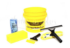 Ettore Window Cleaning & Washing Kit w/ Squeegees, Washers, Buckets, Soap & More