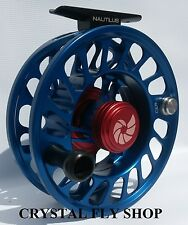 NEW NAUTILUS CCF-X2 10/12 #10/11/12 FLY REEL RARE CUSTOM BLUE- FREE US. SHIPPING