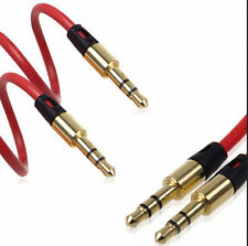 Red 3.5mm AUX Auxiliary CORD Male to Male Stereo Audio Cable for PC iPod MP3 CAR